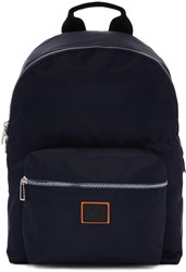 Paul Smith Ps By Navy Nylon Backpack