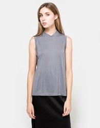 Alexander Wang High Neck Flared Tank Steel