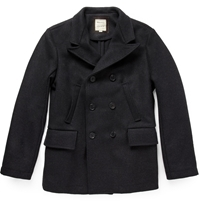 Billy Reid Wool Pea Coat Gray