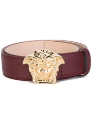 Versace 'Palazzo Medusa' Belt Pink And Purple