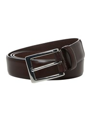 Corsivo Formal Leather Belt Brown