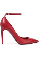 Valentino Studded Leather Pumps Red