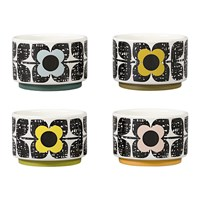 Orla Kiely Scribble Square Flower Ramekins Set Of 4