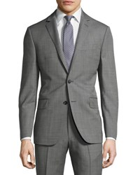 Dkny Slim Fit Solid Wool Two Button Suit Gray