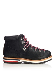 Moncler Lace Up Calf Hair Ankle Boots