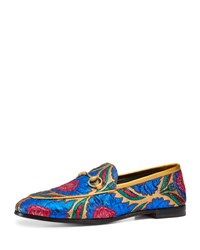 Gucci Flat New Jordan Jacquard Loafer Multi Multi Colored