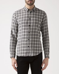 Ikks Black Checkered Shirt