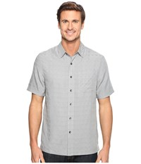 Royal Robbins San Juan S S Light Pewter Men's Short Sleeve Button Up Silver