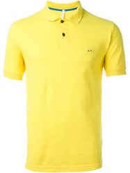 Sun 68 Classic '68 Solid' Polo Shirt Yellow And Orange