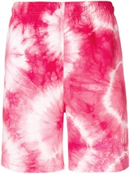 Stussy Tie Dye Shorts Pink And Purple