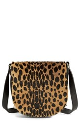 Alexander Wang 'Mini Lia' Cheetah Print Genuine Kangaroo Fur Crossbody Bag