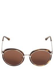 Linda Farrow Acetate And Metal Rounded Sunglasses