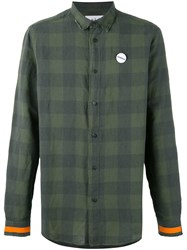 Sold Out Frvr Sid Checked Shirt Men Cotton Linen Flax L Green