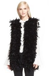 Rachel Zoe 'Sagely' Feather Vest Black