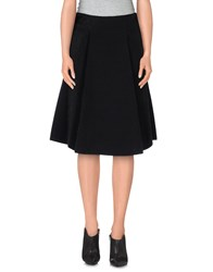 Space Style Concept Skirts Knee Length Skirts Women Black