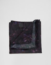 Jack And Jones Silk Pocket Square Purple