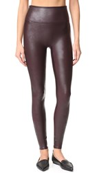 Spanx Ready To Wow Faux Leather Leggings Wine