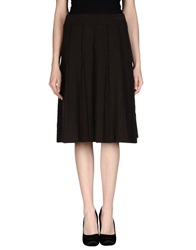 Le Fate Knee Length Skirts Cocoa