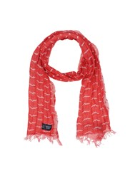 Armani Jeans Accessories Oblong Scarves Men Red