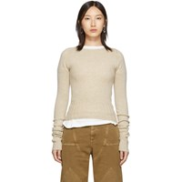 Christophe Lemaire Beige Fitted Sweater