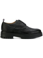 Eytys Chunky Derby Shoes Calf Leather Leather Rubber Black