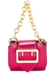 Burberry Micro Buckle Tote Pink Purple