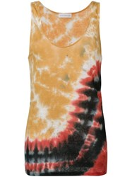 Faith Connexion Tie Dye Tank Top Women Linen Flax S Red