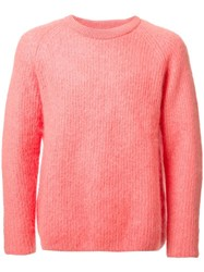 H Beauty And Youth Crew Neck Jumper Yellow Orange