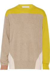 Stella Mccartney Colorblock Cashmere Sweater Nude