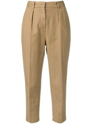 Dondup Cropped Trousers Brown