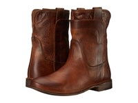 Frye Paige Short Riding Cognac Antique Pull Up Women's Pull On Boots Brown