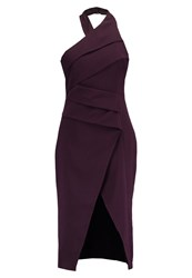 Cameo Collective Dont Stop Midi Cocktail Dress Party Dress Aubergine Dark Purple