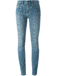 Marc By Marc Jacobs Leopard Print Jeans Blue