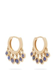 Jacquie Aiche Shaker 14Kt Gold Mini Hoop Earrings Blue