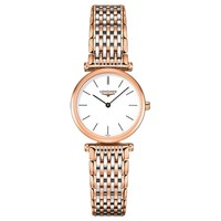Longines L42091927 Women's La Grande Classique Two Tone Bracelet Strap Watch Rose Gold Silver
