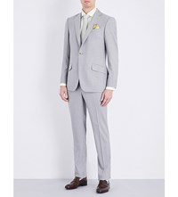 Richard James Hyde Pinstripe Wool Suit Grey