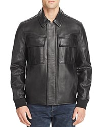 Marc New York Andover Leather Jacket Jet Black