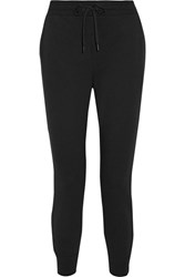 Alexander Wang T By Stretch Cotton Terry Track Pants Black