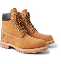 Timberland Premium Waterproof Leather Trimmed Nubuck Boots Sand