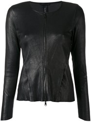Giorgio Brato Zipped Fitted Jacket Black