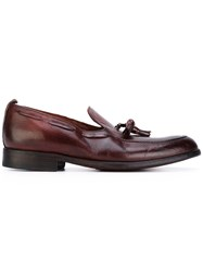 Sartori Gold Tassel Detailed Loafers Men Leather Rubber 43 Red