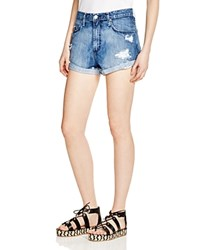 Nobody Skyline Destructed Denim Shorts In Promise