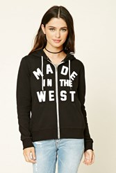 Forever 21 Made In The West Zip Up Hoodie