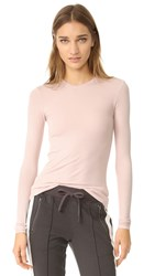 Atm Anthony Thomas Melillo Rib Crew Neck Tee Blush
