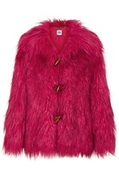 Opening Ceremony Supersonic Faux Fur Jacket Red