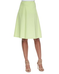 Avenue Montaigne Woven Stretch A Line Circle Skirt Green