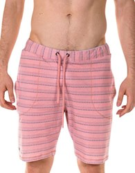 Spenglish Striped Drawstring Shorts Salmon