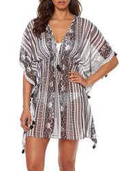Bleu By Rod Beattie Smock It To Ya Printed Kaftan Cover Up