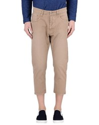 People Trousers 3 4 Length Trousers Men Camel