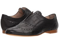 Massimo Matteo Laceless Wing Oxford Black Shoes